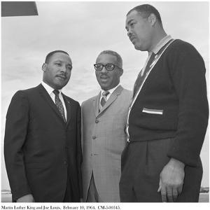 Martin Luther King and Joe Louis, 10 February 1964