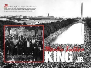 Martin Luther King Jr.- March - Educational Poster
