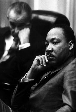 Martin Luther King Jr (With President Lyndon B Johnson) Art Poster Print