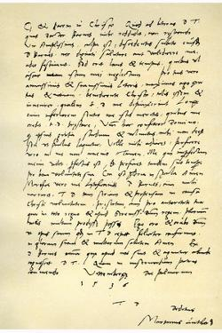 Letter from Martin Luther to Thomas Cromwell, 9th April 1536 by Martin Luther