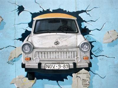 Berlin Wall Mural, East Side Gallery, Berlin, Germany By Martin Moos