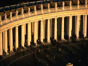 Bernini's Colonnade at the Piazza St. Peter's, Rome, Italy by Martin Moos