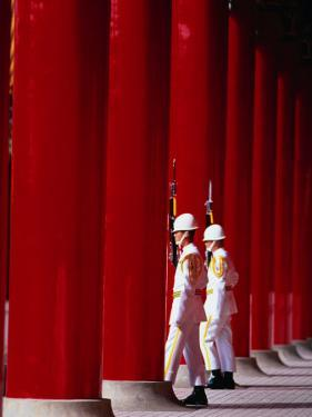 Changing of guard at Martyrs Shrine, Taipei, Taiwan by Martin Moos