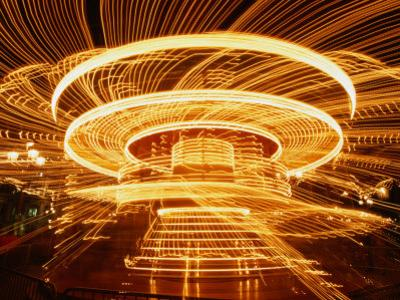 Christmas Merry-Go-Round Spinning on the Place De L'Hotel De Ville, Paris, Ile-De-France, France by Martin Moos