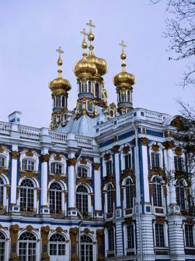 Grand Palace or Catherine Palace in Tsarskoye Selo, St. Petersburg, Russia by Martin Moos