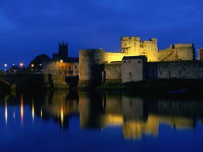 King John's Castle Over the River Shannon, Limerick, County Limerick, Ireland, Munster by Martin Moos