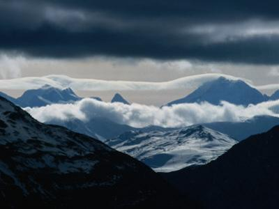 Mountains on Swiss-Italian Border, South of Livigno, Swiss NP, Engadine Valley, Zernez, Switzerland by Martin Moos
