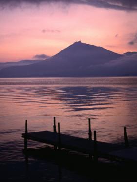 Mt. Eniwa and Lake Shikotsu-Ko at Sunset, Shikotsu-Toya National Park, Japan by Martin Moos