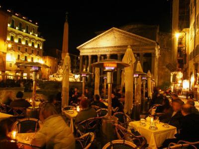 Outdoor Dining Near Pantheon, Rome, Italy