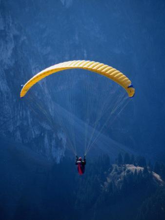 Paragliding, Rougemont, Vaud, Switzerland