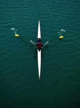Rower on River Garonne, Toulouse, France by Martin Moos