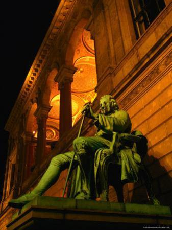 Statue of Famous Playwright Ludvig Holberg Outside De Kongelige Teater, Copenhagen, Denmark