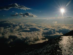 Sun Over Clouds at Mount Fuji, Mt. Fuji, Japan by Martin Moos