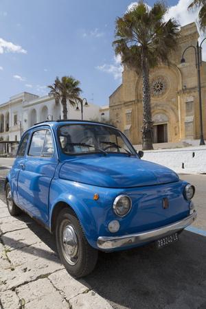 Old Fiat in Santa Cesarea Terme, Puglia, Italy, Europe