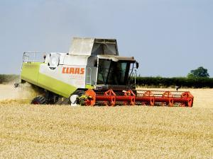Combine Harvester, England by Martin Page