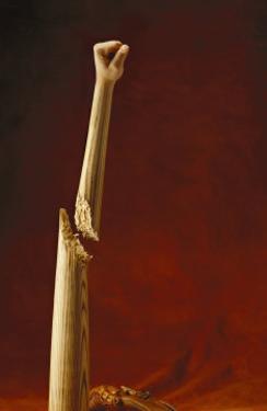 Fist on Baseball Bat by Martin Paul