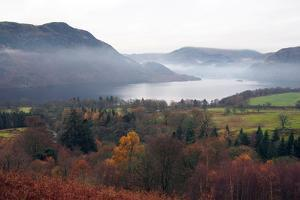 Autumn trees, Ullswater, Lake District National Park, Cumbria, England, United Kingdom, Europe by Martin Pittaway