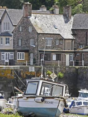 Boats in Harbour, Porlock Weir, Somerset, England, United Kingdom, Europe by Martin Pittaway