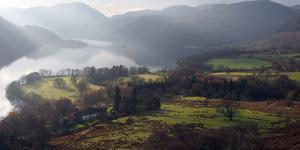 Farmland, Ullswater, Lake District National Park, Cumbria, England, United Kingdom, Europe by Martin Pittaway