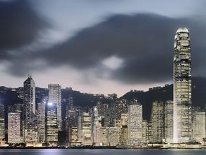 Hong Kong Skyline and financial district at dusk by Martin Puddy