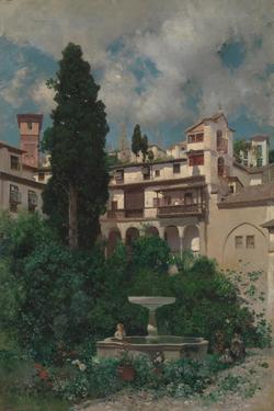A Spanish Garden by Martin Rico y Ortega