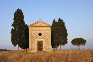 Chapel of Vitaleta with Cypress Trees near Sunset. by Martin Ruegner