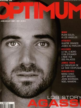 L'Optimum, June-July 2001 - André Agassi by Martin Schoeller