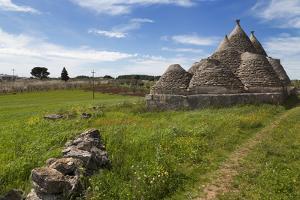 Traditional Trullos (Trulli) in the Countryside Near Alberobello, Puglia, Italy, Europe by Martin