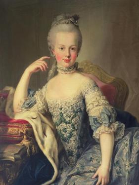 Archduchess Marie Antoinette Habsburg-Lotharingen (1755-93) by Martin van Meytens
