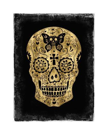 Day of the Dead in Gold & Black