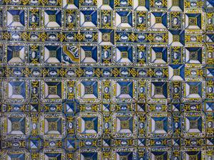 Azulejo in the Convent of Christ, Convento de Cristo, in Tomar, Portugal by Martin Zwick