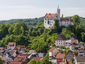 Castle Goessweinstein. Goessweinstein the most important place of pilgrimage in Franconian Switzerl by Martin Zwick