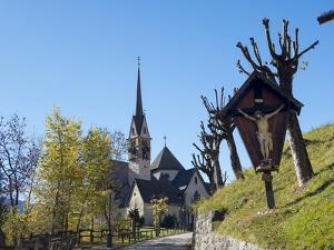 Church San Vigilio. Moena in valley Val di Fassa in the Dolomites, Italy. by Martin Zwick