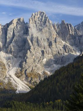 Cima dei Bureloni. Peaks towering over Val Venegia. Pala group in the dolomites of Trentino, Italy. by Martin Zwick