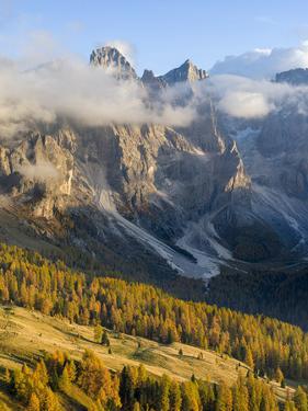 Cima della Vezzana, cima dei Bureloni. Peaks towering over Val Venegia. by Martin Zwick
