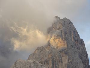 Cimon Della Pala. Peaks towering over Val Venegia seen from Passo Costazza. by Martin Zwick