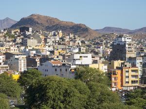 City view from Plato. The capital Praia on the Ilha de Santiago, Cape Verde. by Martin Zwick