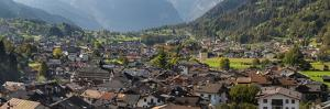 City view of Tonadico in the valley of Primiero in the Dolomites of Trentino, Italy. by Martin Zwick