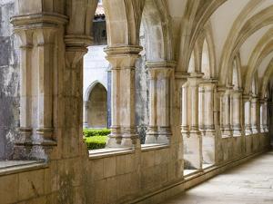 Cloister of king Afonso V. The monastery of Batalha, Mosteiro de Santa Maria da Vitoria, Portugal by Martin Zwick