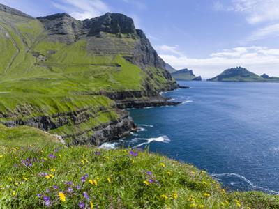Coast Near Gasadalur. Island Vagar, Faroe Islands. Denmark by Martin Zwick