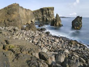 Coastal landscape at Reykjanesviti and Valahnukur on Reykjanes peninsula. Northern Iceland by Martin Zwick