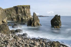Coastal landscape at Reykjanesviti and Valahnukur on Reykjanes peninsula. by Martin Zwick
