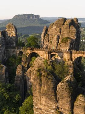 Elbsandsteingebirge, NP Saxon Switzerland. Bastei Bridge and Rocks by Martin Zwick