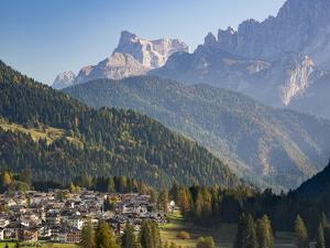 Falcade in Val Biois, Monte Pelmo in the background. Italy. by Martin Zwick