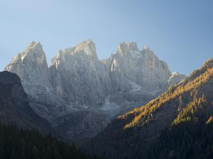 Focobon mountain range in the Pale di San Martino in the Dolomites of Trentino. by Martin Zwick