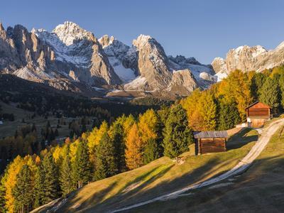 Geisler Mountain Range, Odle in the Dolomites, Groeden Valley, Val Gardena, South Tyrol, Alto Adige