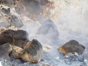 Geothermal area Seltun near Krysuvik volcano on Reykjanes peninsula during winter, Iceland. by Martin Zwick