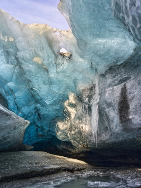 Glacial Cave Entrance, Breidamerkurjoekull, Vatnajoekull, Iceland by Martin Zwick