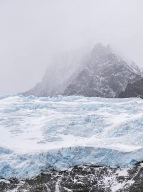 Glaciers of Drygalski Fjord at the southern end of South Georgia. by Martin Zwick