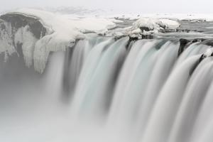Godafoss waterfall during winter. Europe, Iceland. (Large Format sizes available) by Martin Zwick